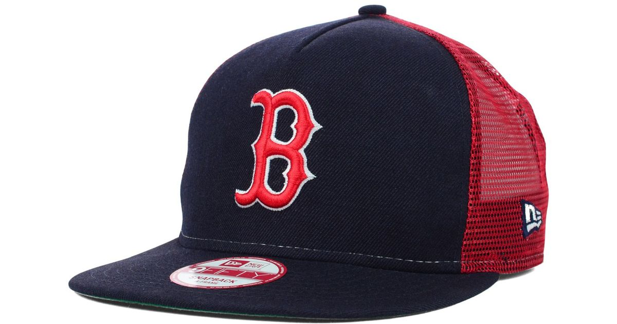 Lyst - KTZ Boston Red Sox Trucker A-frame 9fifty Snapback Cap in Blue for  Men 085a9526b10