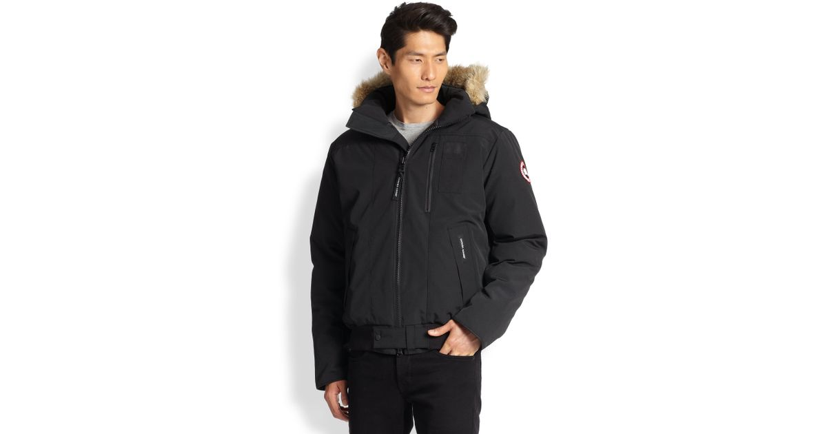 Canada Goose womens outlet discounts - Canada goose Borden Fur-trimmed Puffer Jacket in Black for Men | Lyst