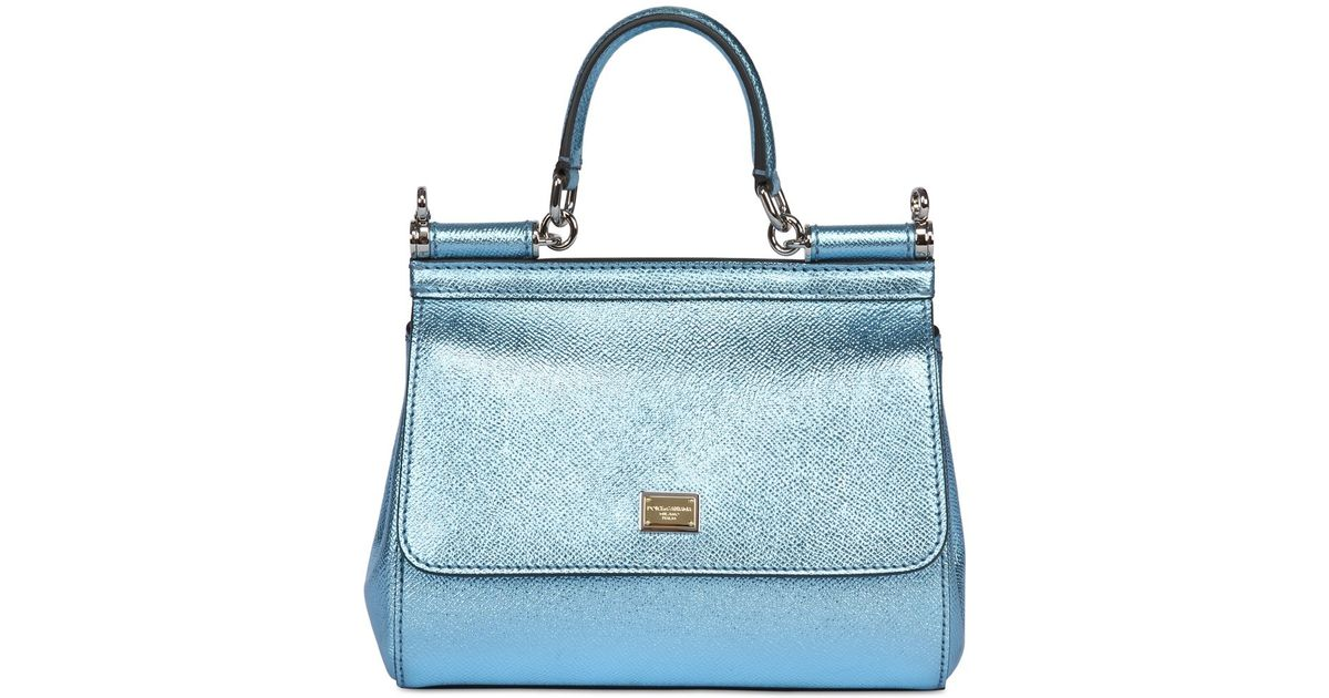 d6c0a1b3f80 ... low priced 7a632 54fa1 Lyst - Dolce Gabbana Small Sicily Lamé Dauphine Leather  Bag ...
