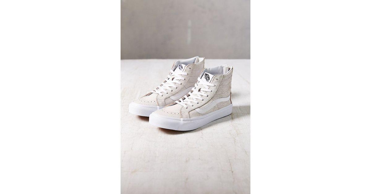 Vans Sk8-Hi Crackle Suede Sneaker in White - Lyst 412582413