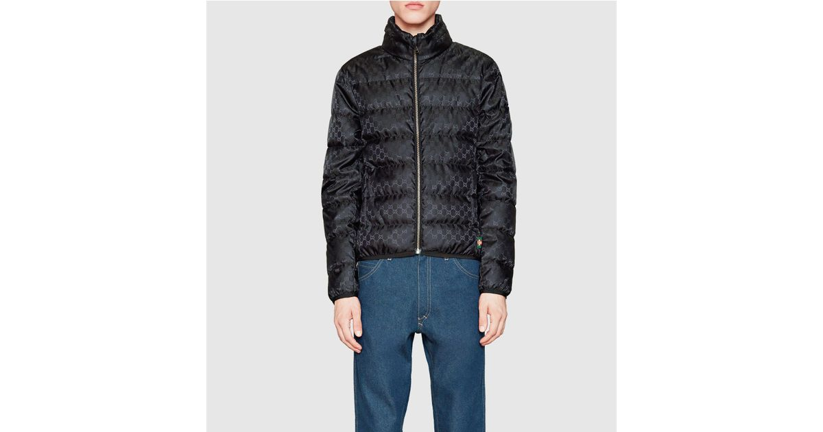 Gucci Gg Jacquard Quilted Nylon Jacket in Black for Men | Lyst : quilted nylon jacket - Adamdwight.com