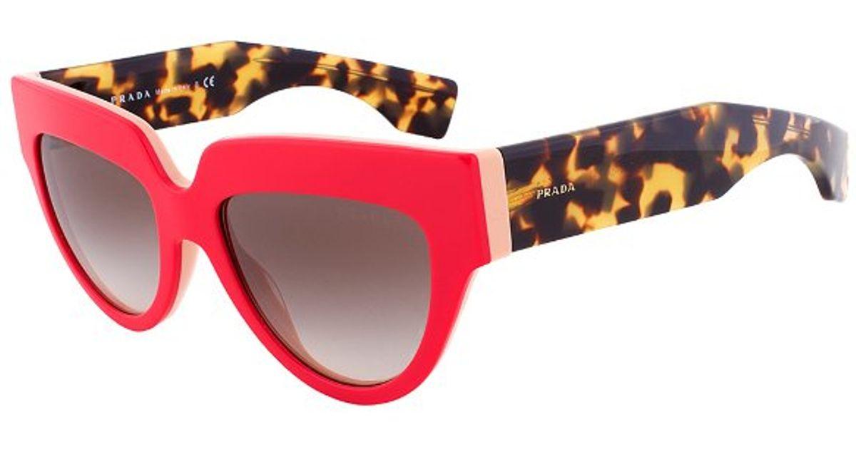 fbc861a6a4c8 ... get prada spr 29p sl2 0a7 cateye sunglasses red coral havana frame grey  gradient lens in