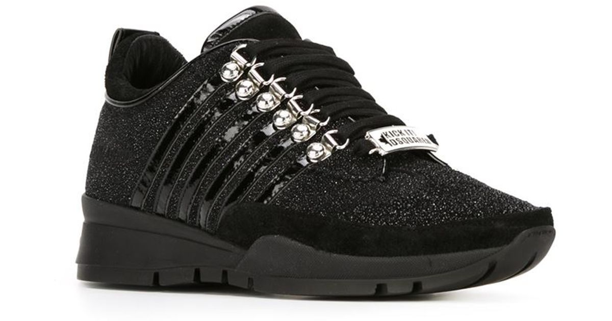 Lyst Dsquared² Black Glitter In Sneakers rrdqCp