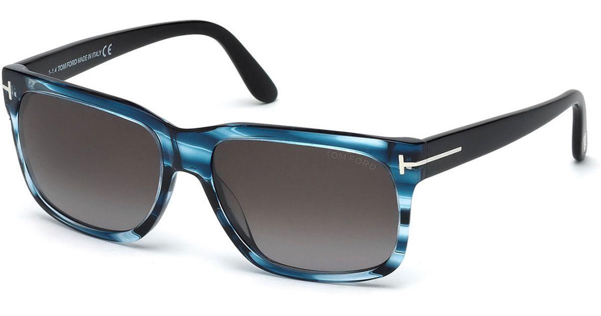6030f11e59 Lyst - Tom Ford Barbara Rectangle Sunglasses in Blue