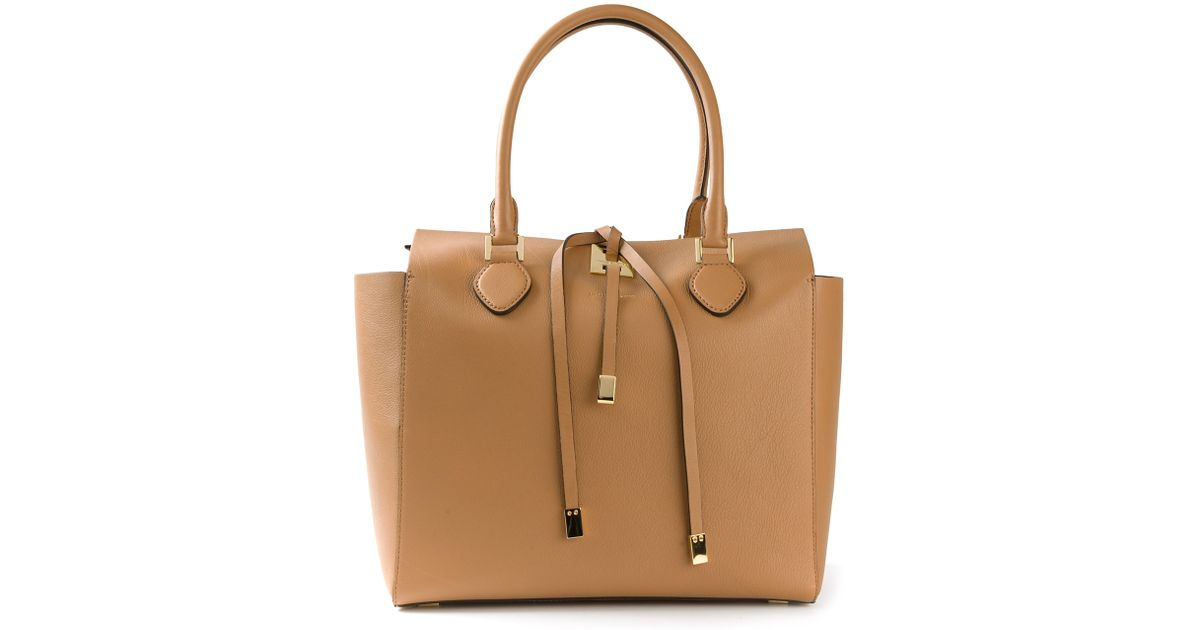 fb133eef7d1c Michael Kors Miranda Large Trapeze Tote in Brown - Lyst
