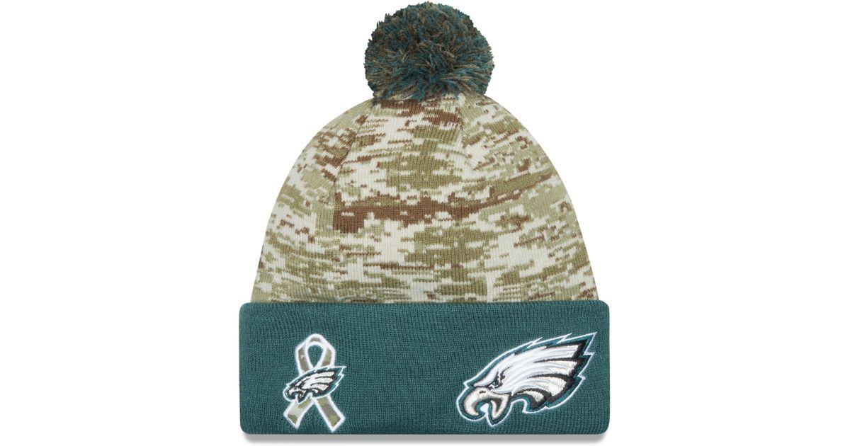 7f7fd7128 KTZ Philadelphia Eagles Salute To Service Knit Hat in Green for Men - Lyst