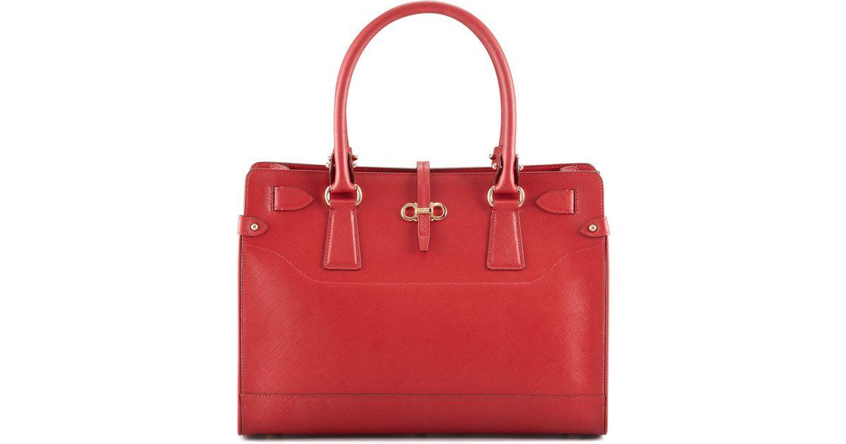 Lyst - Ferragamo Briana Small Tote Bag Red in Red 5410e2341d9d6