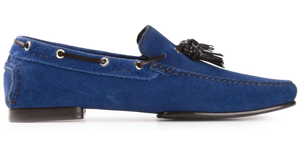 79b3241d494 Lyst - Tom Ford Tassel Loafer in Blue for Men