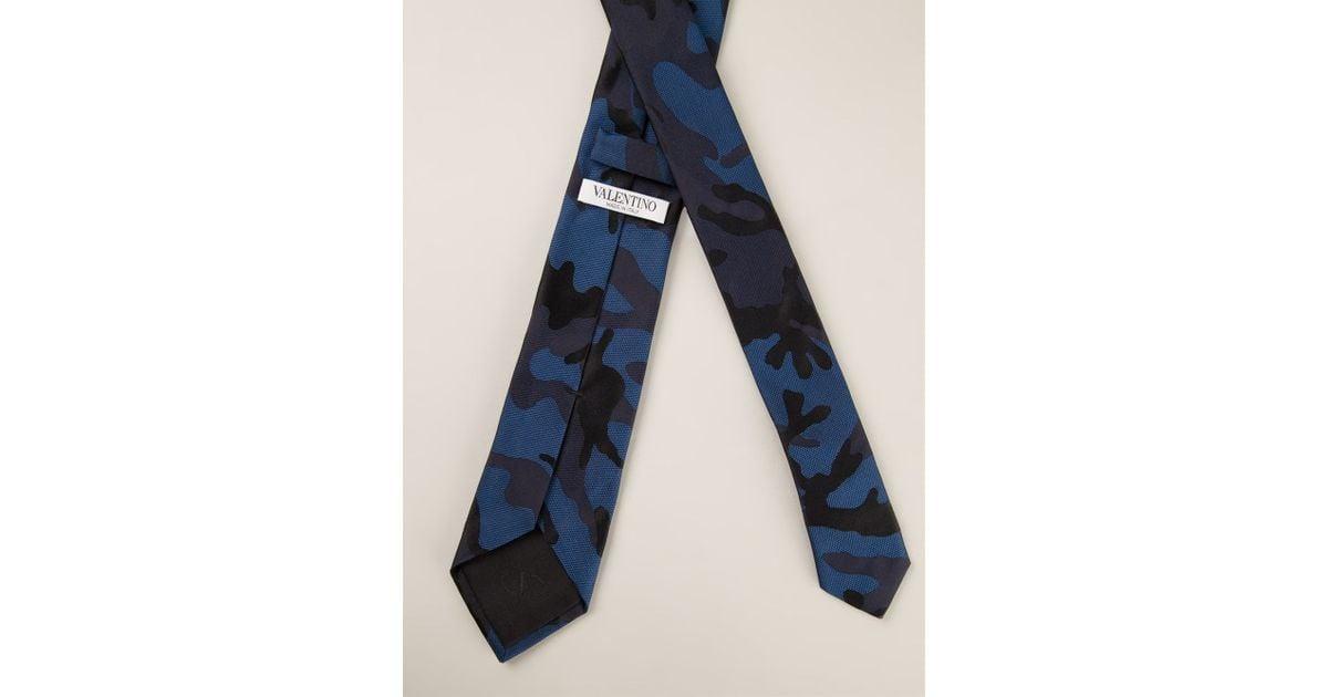 camouflage tie - Blue Valentino jLmP1