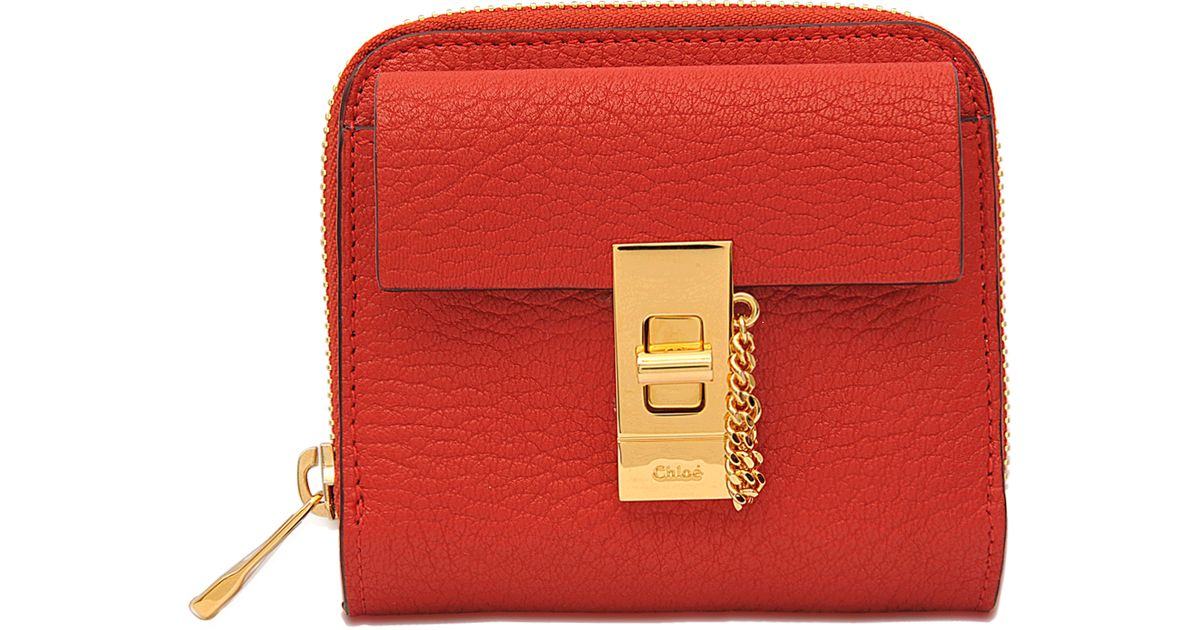 clohe handbags - Chlo�� Drew Square Zipped Wallet in Red | Lyst