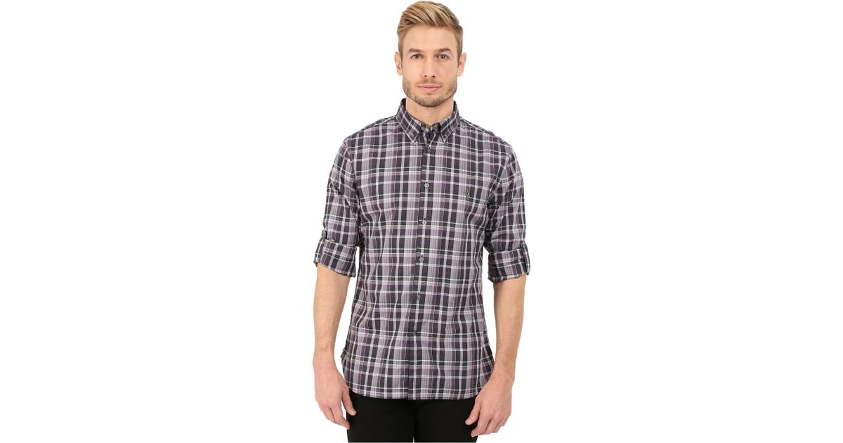 John varvatos slim fit plaid button down collar sport for Mens button down sport shirts