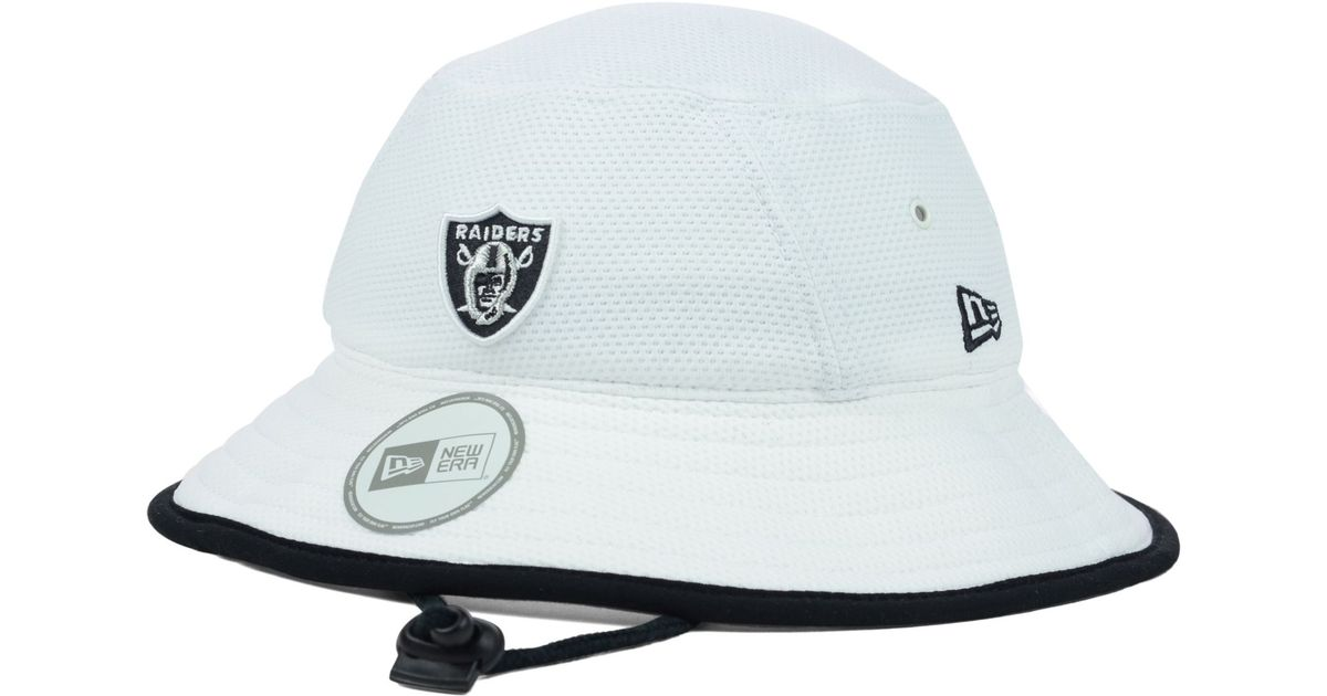 2a859770f0c Lyst - KTZ Oakland Raiders Training Camp Bucket Hat in White for Men