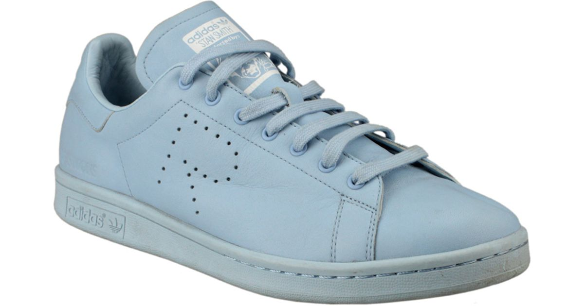 adidas By Raf Simons Stan Smith Leather Sneakers in Blue - Lyst 0febddf10