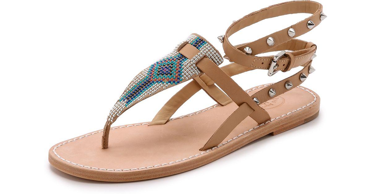 Sandales Perlées De Cendres - Brun j0JIR4J