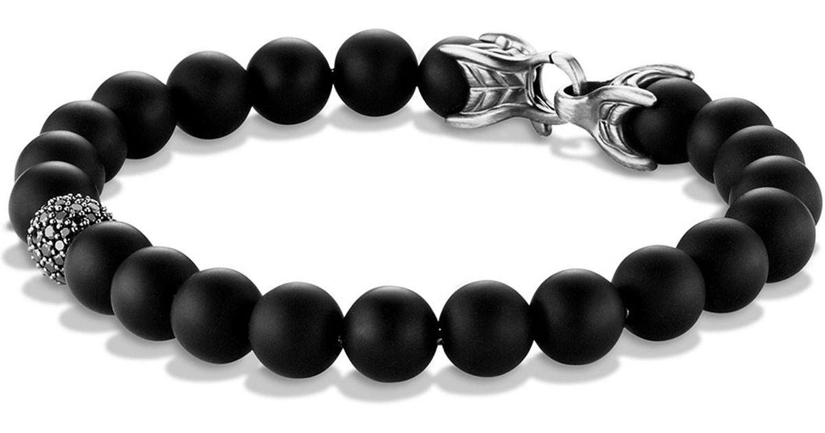 Lyst David Yurman Spiritual Beads Bracelet With Black Onyx Diamonds In For Men