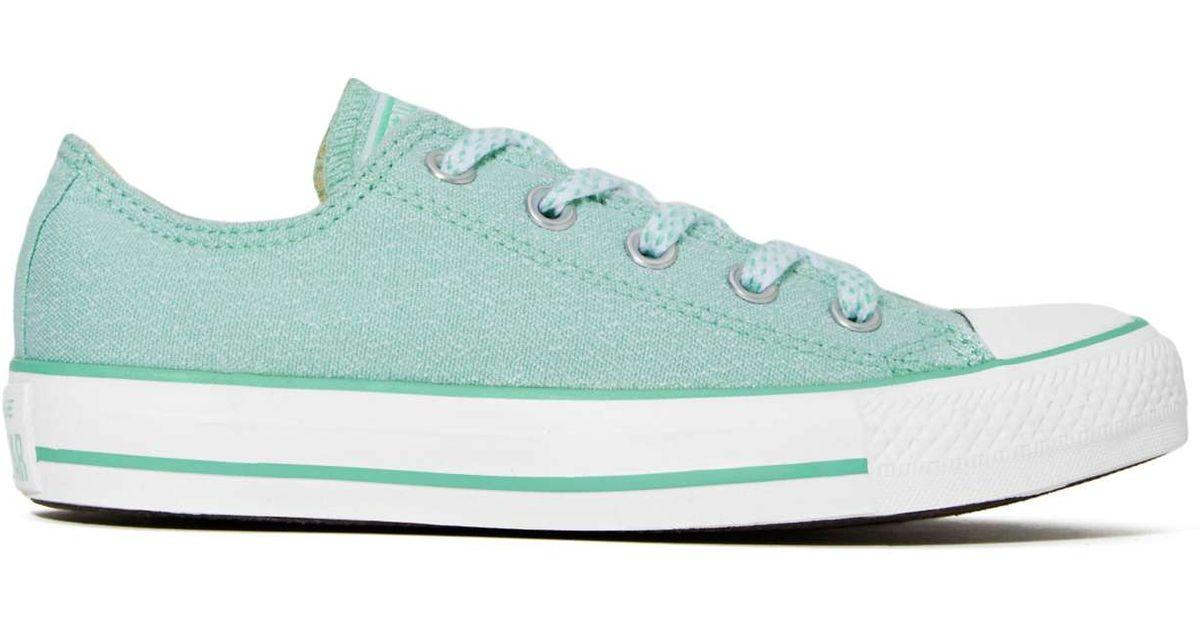 e96f8724e63 Lyst - Nasty Gal Converse All Star Sneaker - Mint in Blue