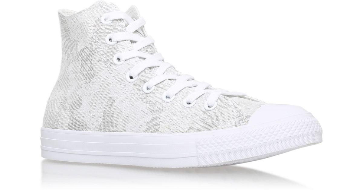 2da4f0a05383 Converse Ctas Camo Jacquard Hi in White for Men - Lyst