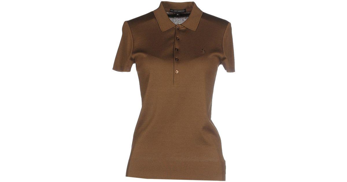 Ralph lauren black label polo shirt in khaki lyst for Ralph lauren black label polo shirt