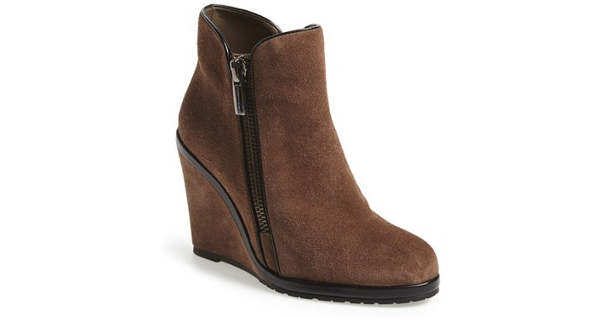 4a9c89a7a72a Lyst - Vince Camuto  jeffers  Wedge Bootie in Brown