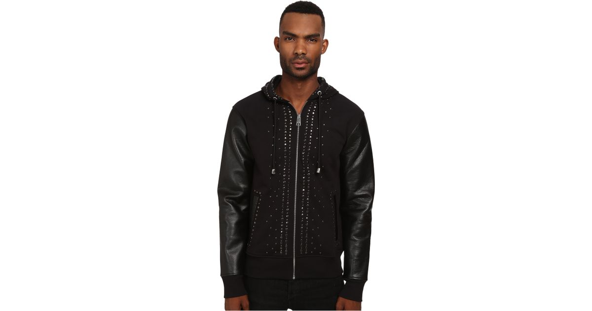 studded patch detail hoodie - Black Just Cavalli Free Shipping Largest Supplier Footlocker Pictures For Sale Clearance Low Price Cost 1xrGksxL