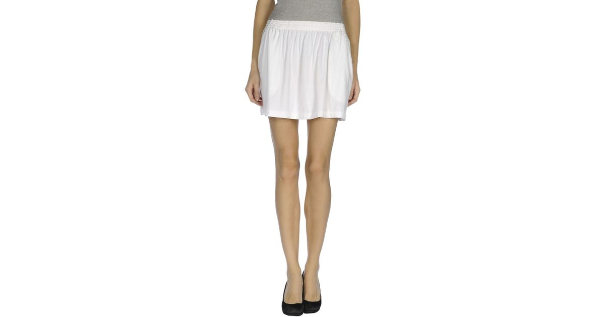 6a1a565f5b Lacoste Mini Skirt in White - Lyst