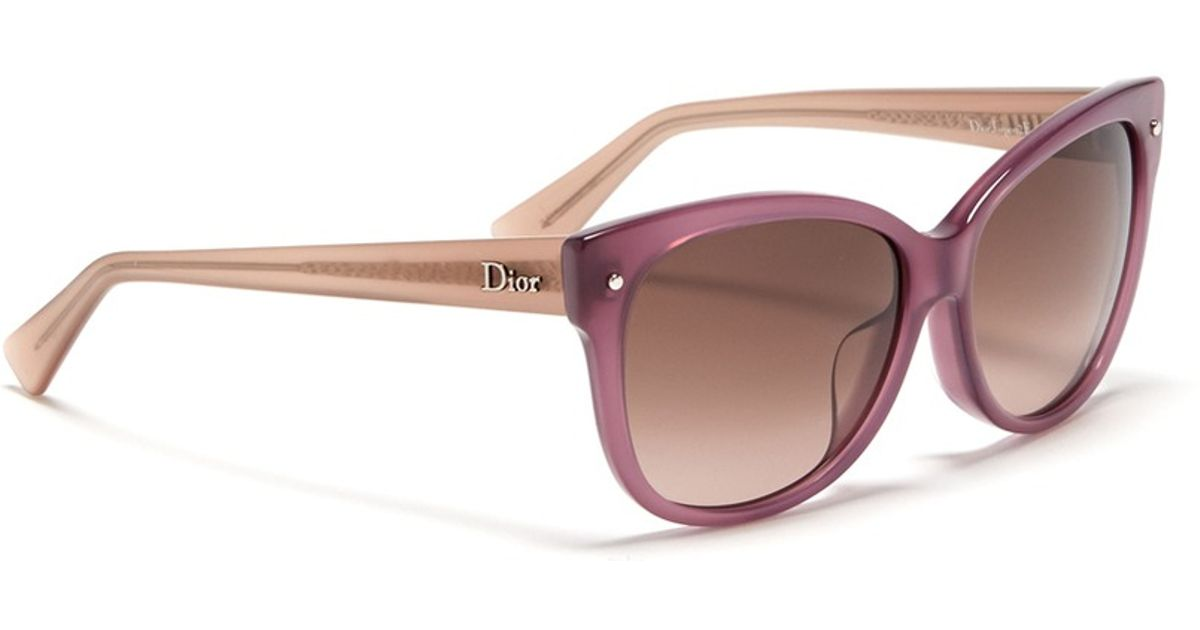 Dior Glasses Frame 2014 : Dior Squared Cat Eye Plastic Frame Sunglasses in Purple Lyst