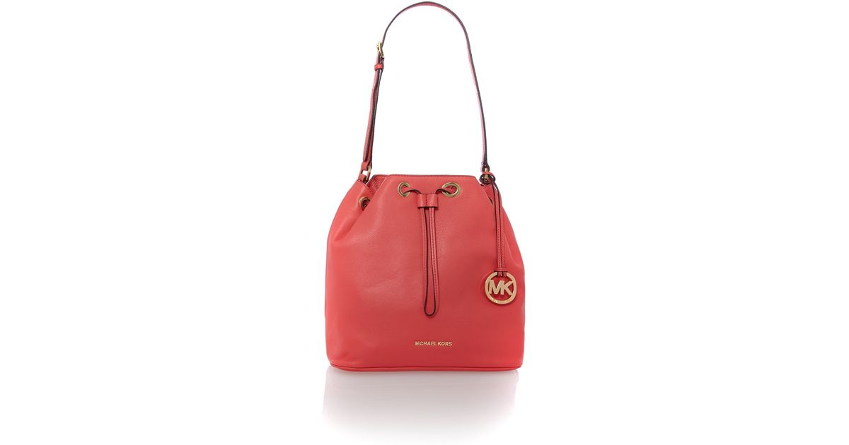 918f488bc9ca ... medium duffle leather luggage satchel crossbody 54dae 6d09d; coupon code  for michael kors jules pink large duffle bag in pink lyst 695ff 9f694