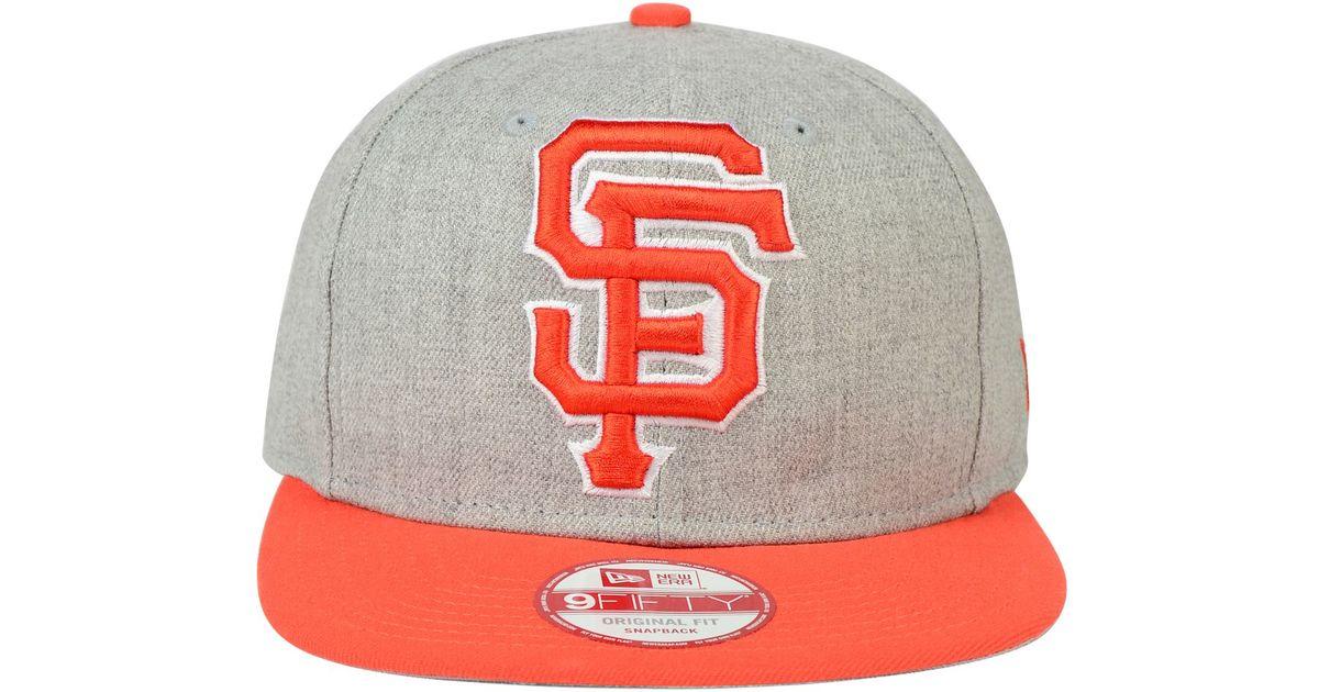 buy online bda48 b205e ... shop lyst ktz san francisco giants logo grand 9fifty snapback cap in  gray for men 0e779