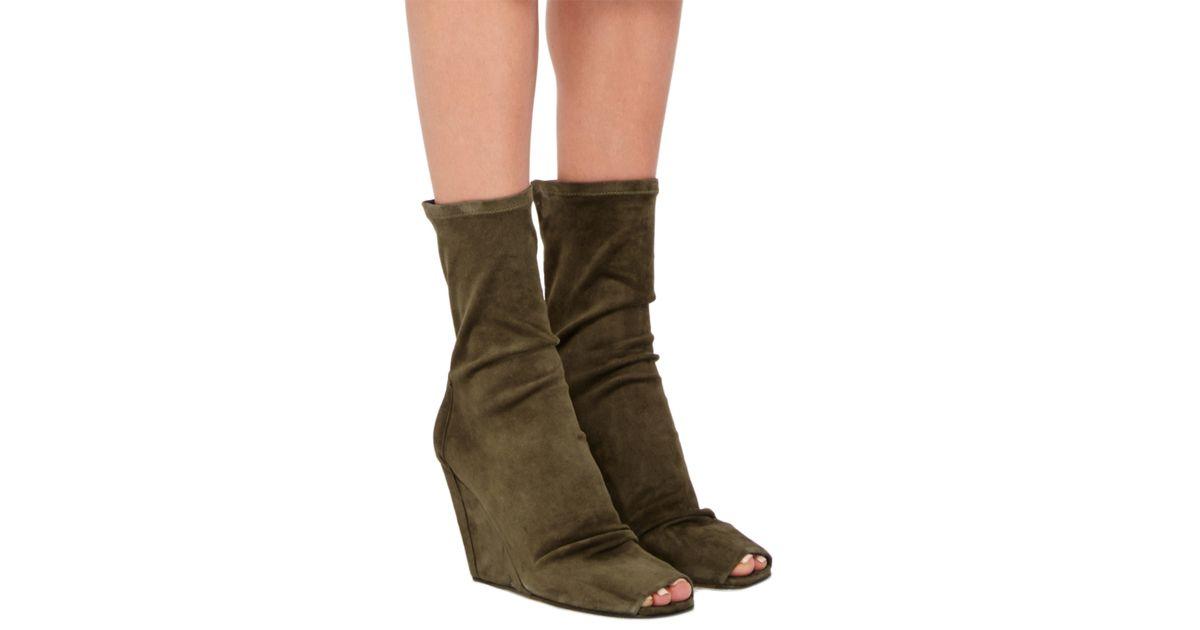 Rick Owens open toe wedge booties buy cheap deals perfect cheap online wiki online discount best seller wDno8
