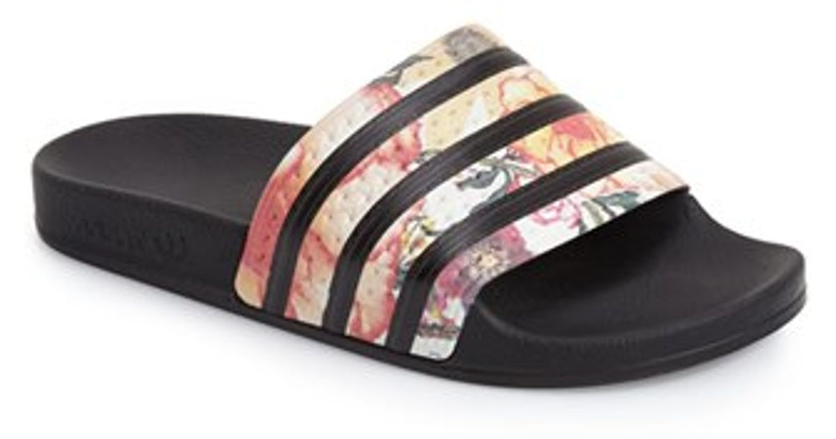 db25400353 Lyst - adidas Originals Adilette Slides in Black