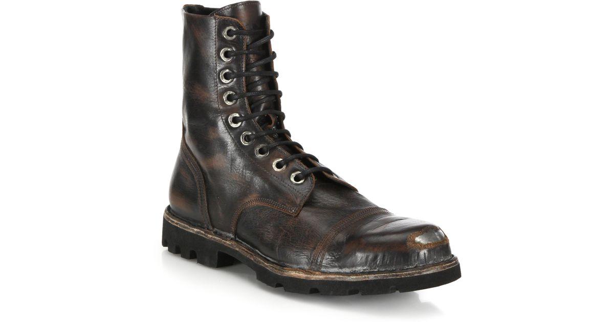 Lyst Diesel Hardkor Steel Toe Leather Boots In Black For Men