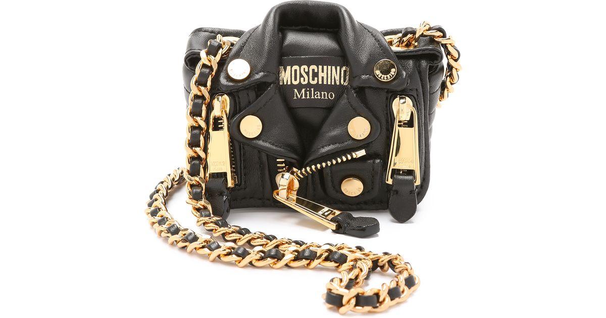 899d4893fe9 Love Moschino Handbags Style. Moschino Mini Motorcycle Cross Body Bag Black  In Lyst