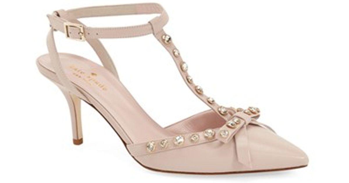 14d5aba79 Kate Spade 'julianna' Pointy Toe Pump in Pink - Lyst