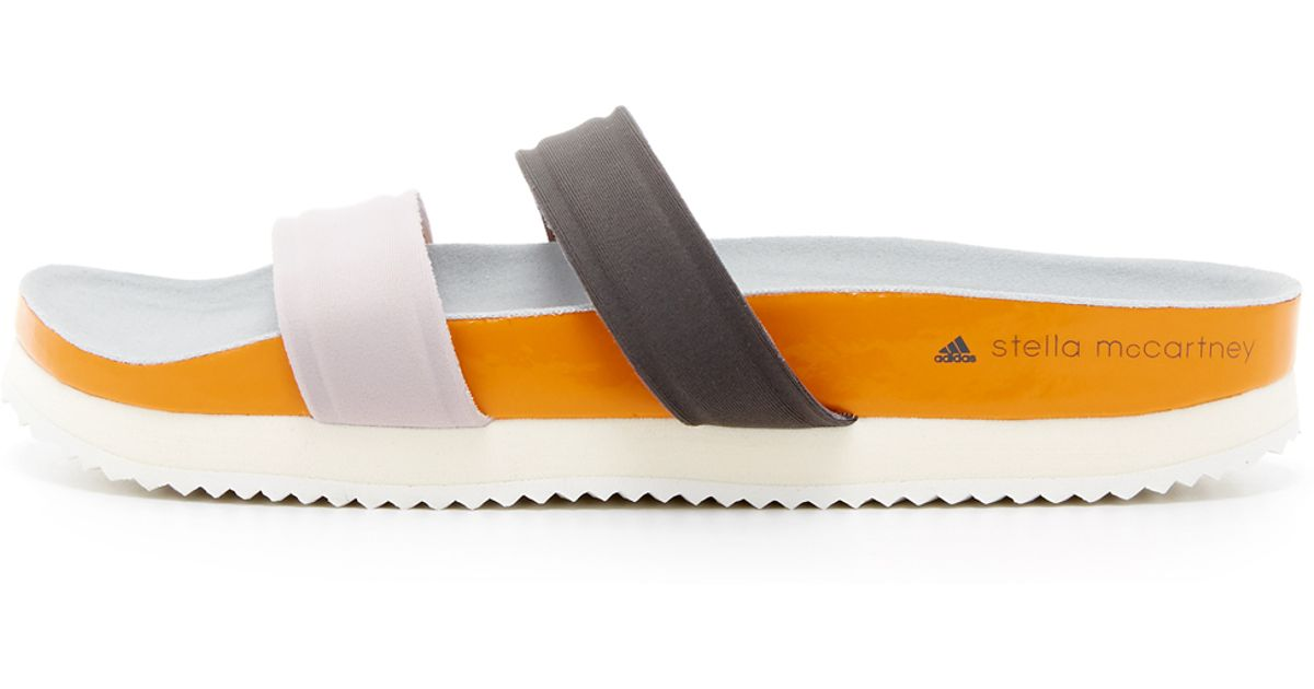 5cd2be590992 adidas By Stella McCartney Diadophis Slide Sandals in White - Lyst