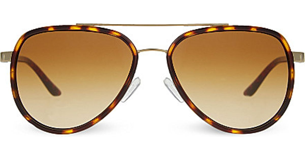 8e6366e32f593 Lyst - Michael Kors Mk5006 Playa Norta Aviator Sunglasses in Brown