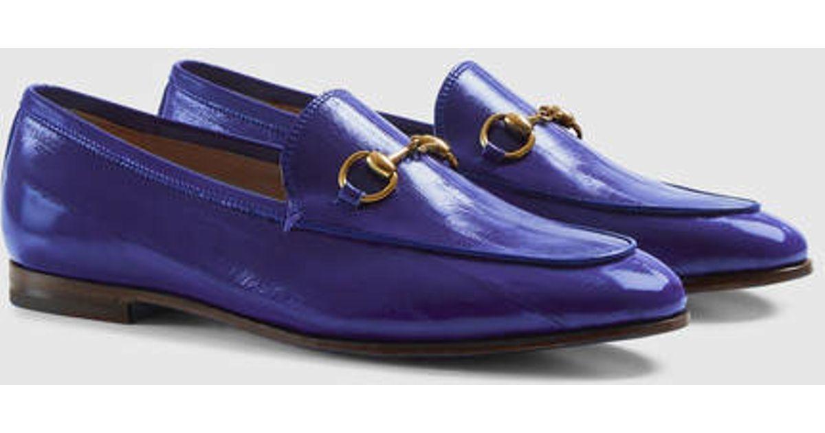 5008d6905b2 Lyst - Gucci Jordaan Eel Loafer in Purple