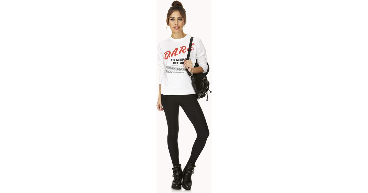 12 Forever Classic Features: Forever 21 Classic D.a.r.e. Sweatshirt In White