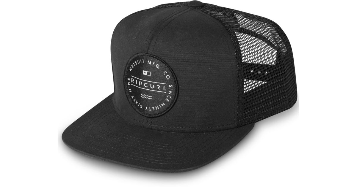 Lyst - Rip Curl Circle Bot Hat in Black for Men d01a5aa2f77