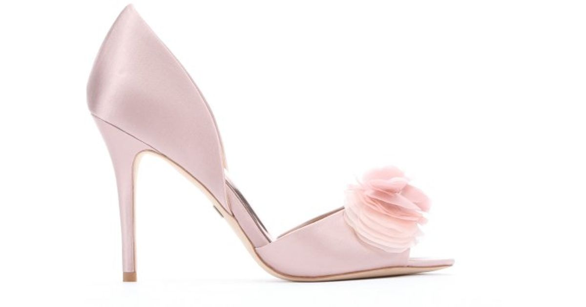 Badgley Mischka Satin d'Orsay Pumps low shipping cheap price 7DoCHLgmQ