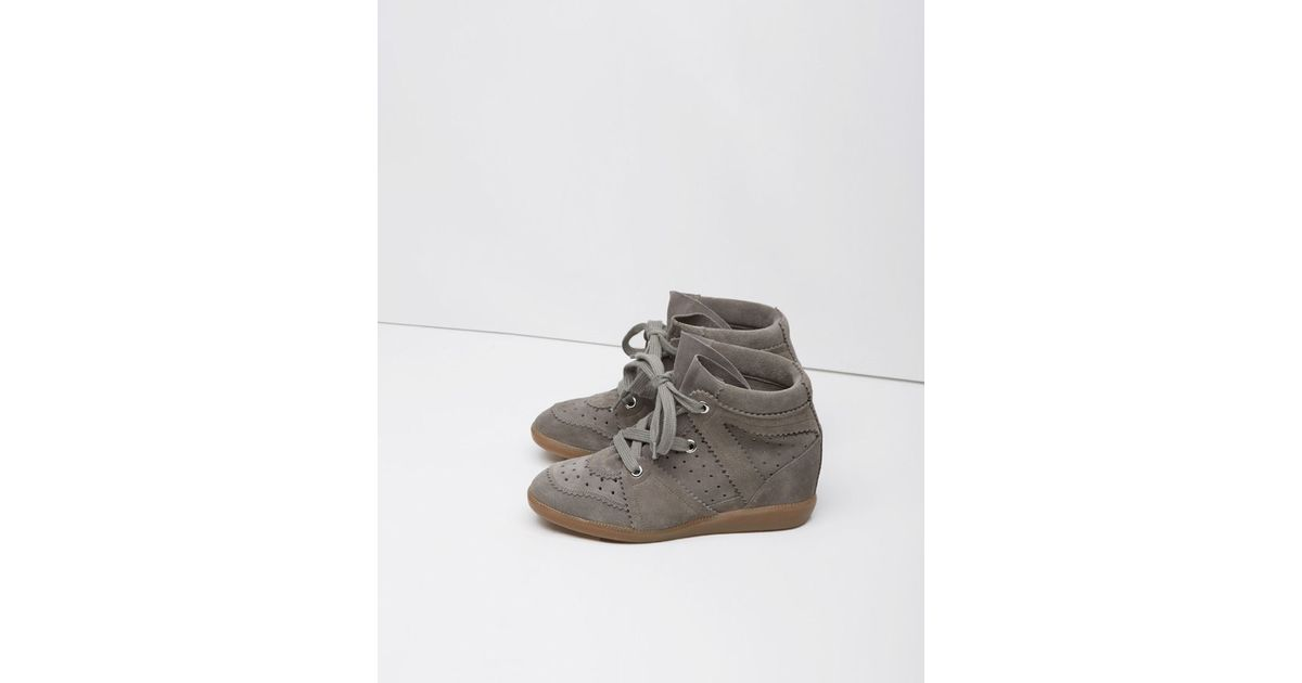 Extreem Étoile Isabel Marant Bobby Low-top Sneaker in Gray - Lyst @GD49