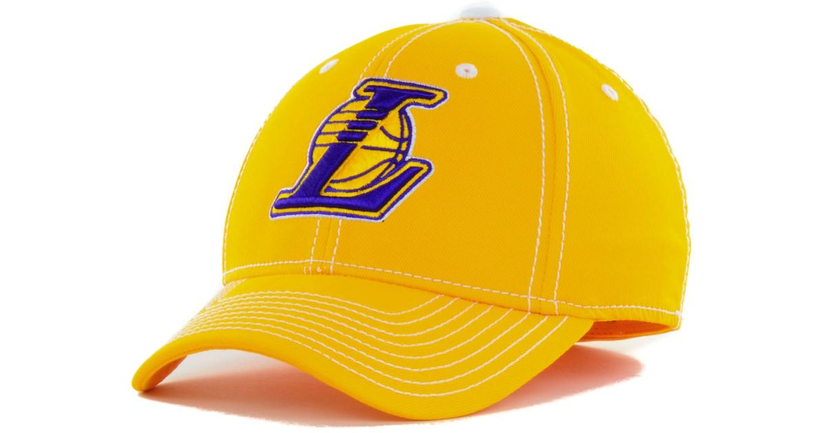 Lyst - adidas Los Angeles Lakers Nba Primary Team Flex Cap in Yellow for Men b1b4cf90058