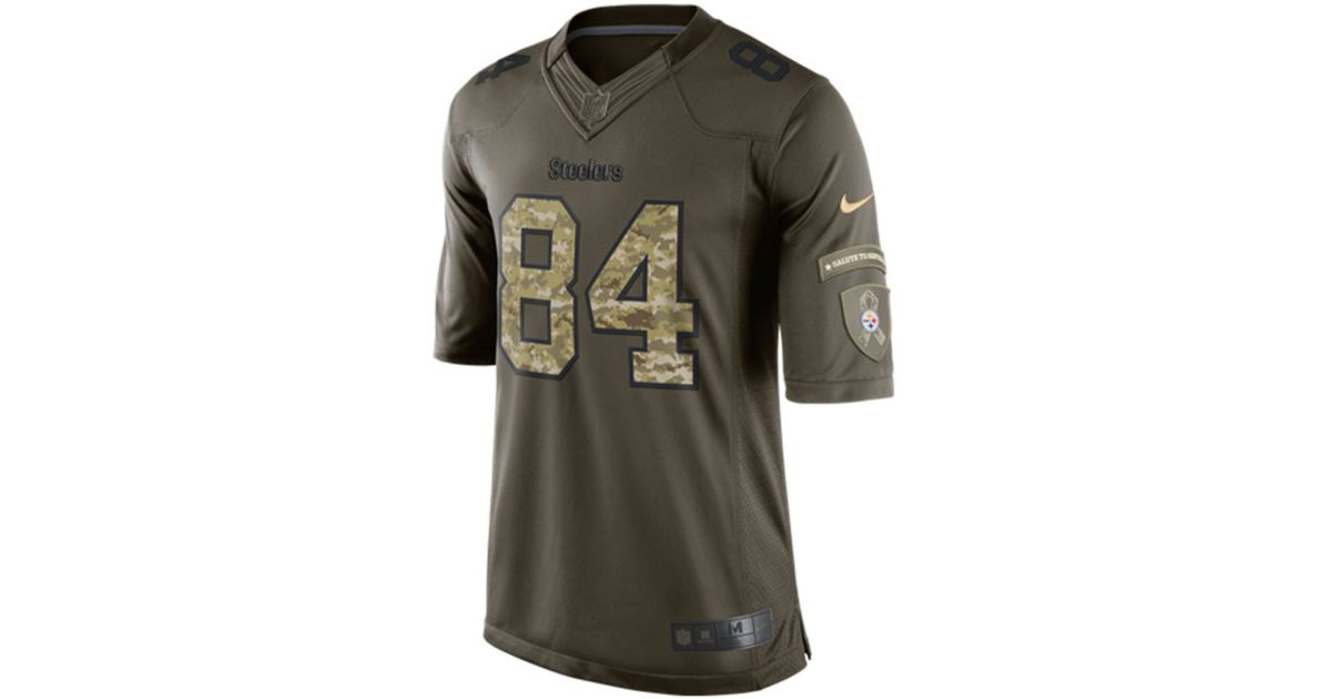 b3dfff1ea4d ... NFL Limited Gridiron Gray Jersey Nike Mens Antonio Brown Pittsburgh  Steelers Salute To Service Jersey in Green for Men Lyst ...
