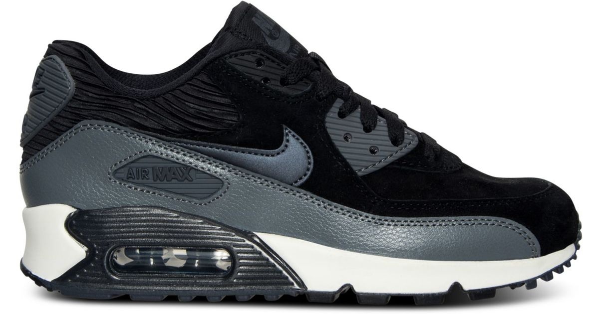 Lyst - Nike Women s Air Max 90 Leather Running Sneakers From Finish Line in  Black 759964706