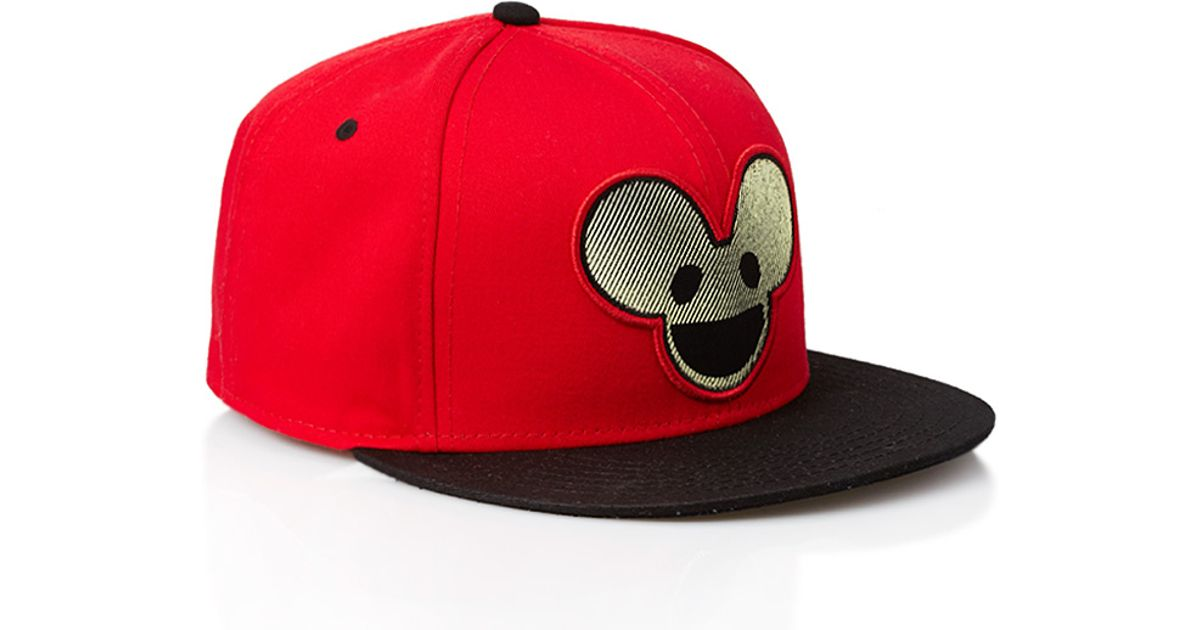 Lyst - Forever 21 Deadmau5 Snapback Hat in Red for Men 1eb764bd1b6