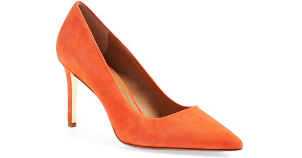 1cbf4e72f69 Lyst - Tory Burch Elana Suede Pumps in Orange