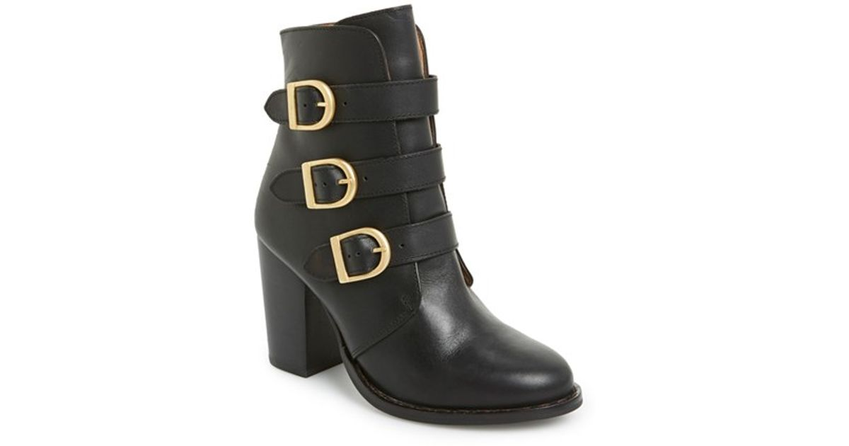 topshop horoscope ankle boot in black lyst
