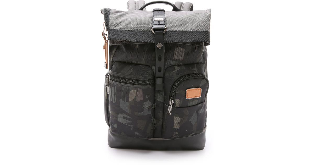 a149417e6 Tumi Alpha Bravo Luke Roll Top Backpack in Gray for Men - Lyst