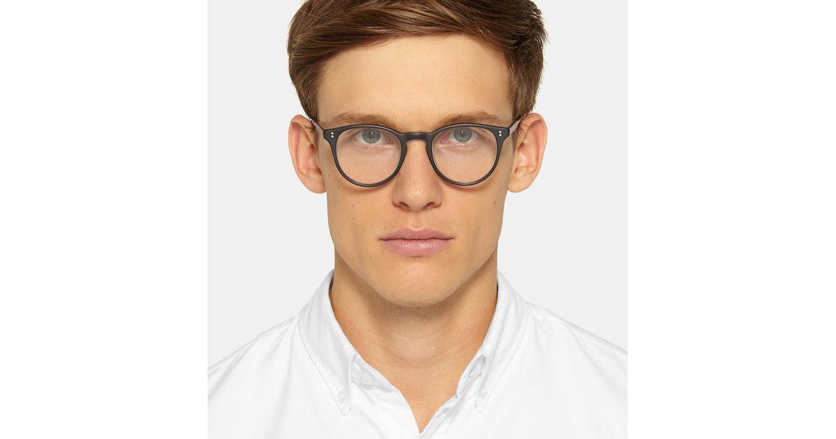 6f987d0191 Garrett Leight Milwood Round-frame Acetate Optical Glasses in Black for Men  - Lyst