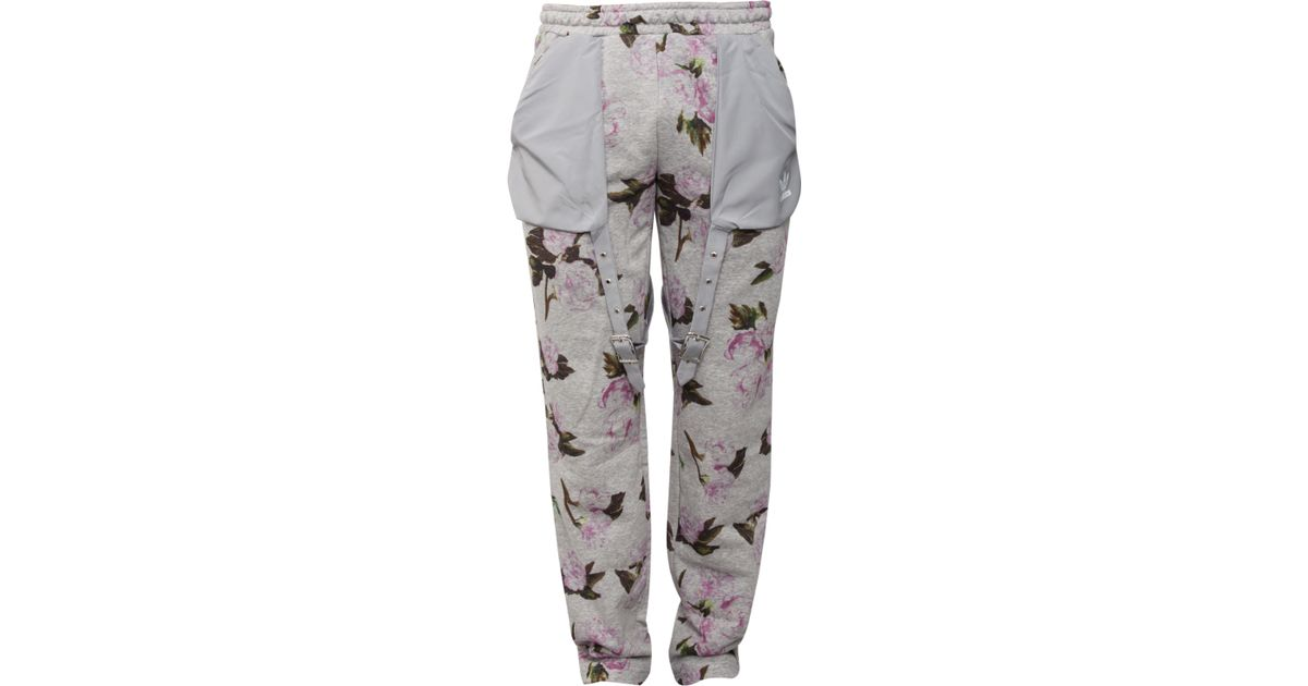 e80157b8b599 Jeremy Scott for adidas Floral Cotton Track Pants Grey pink for Men - Lyst