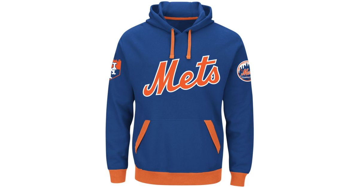big sale 7eae9 c60d4 Majestic - Blue Men's New York Mets Third Wind Hoodie for Men - Lyst